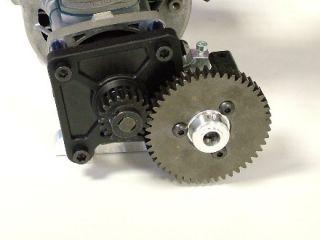 06492 Stahl Zahnrad verbreitert mit Adapter 46 Zähne