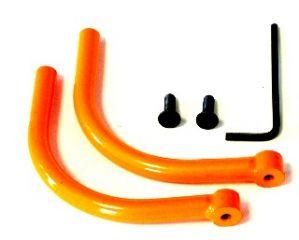 Heckbügel unten  Hinten  Orange Stahl