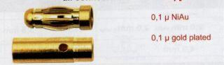4 mm Goldkontakt Stecker 2 Buchse 2  Kurz