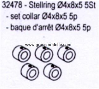32478 Stellring 5 Stück in Verpackung Dämpferabstandshalter