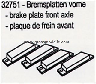 32751 Bremsplatten vorn C5 ( 4 Stück)