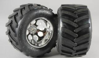 6228/07 - Monster-Truck Reifen M 14mm verklebt, 2St.