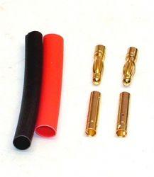 Goldkontaktstecker China  2 Paar Buchse Stecker 3,5 mm