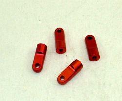 Unteres Dämpfer Auge Alu Rot 4 Stück für Carson Dämpfer