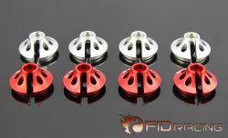FIDXL013 Stoßdämpfer Teller Silber 4 Stück