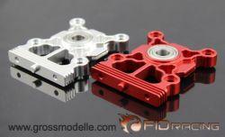 FIDXL005-1 Getriebehalter Rot Eloxiert