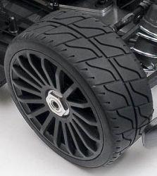 Tyre 180 mm Asphalt White Soft für 1:5 und 1:6 ohne Felge 2 Stüc